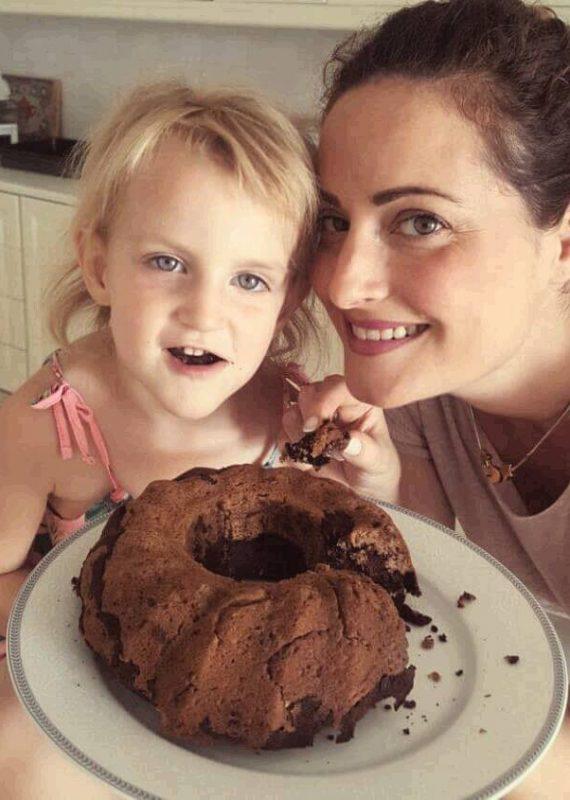 Vegan Κέικ σοκολάτας-μπανάνα χωρίς γλουτένη,ζάχαρη
