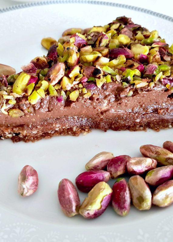 Vegan ωμή τούρτα σοκολάτας χωρίς γλουτένη