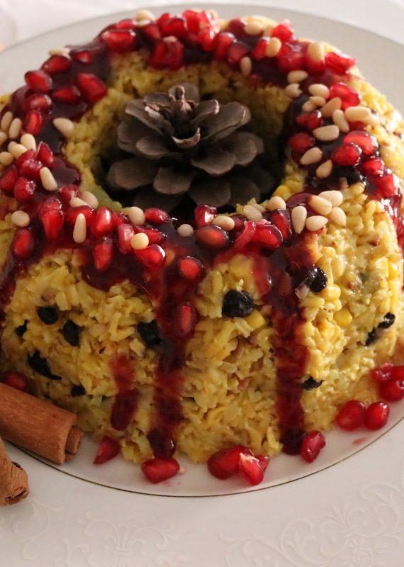 Ρύζι ακατέργαστο με γλάσο ροδιού για τα Χριστούγεννα!!